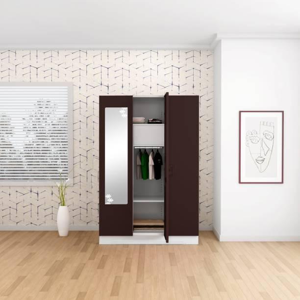 Godrej Interio Slimline 3 Door With Locker and Drawer Metal Almirah