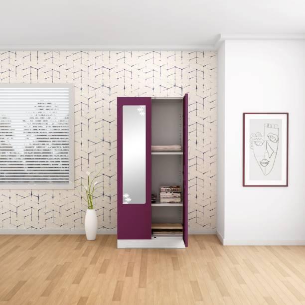 Godrej Interio Slimline 2 Door 2 Shelf Metal Almirah
