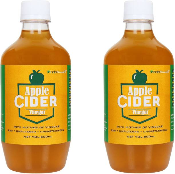 IndoSwasth Apple Cider Vinegar with Mother of Vinegar - 500ml ( Pack of 2 ) Vinegar