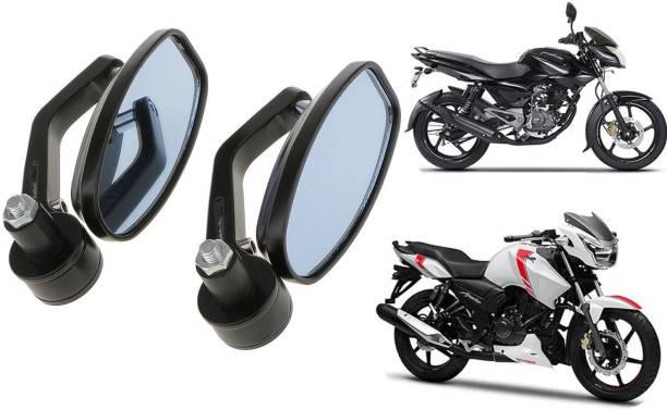 JCTEK Manual Rear View Mirror, Dual Mirror, Driver Side For Bajaj, TVS Appache RTR 180, Appache RTR 160, Pulsar 150, Pulsar 180 DTS-i, Pulsar 220 DTS-i