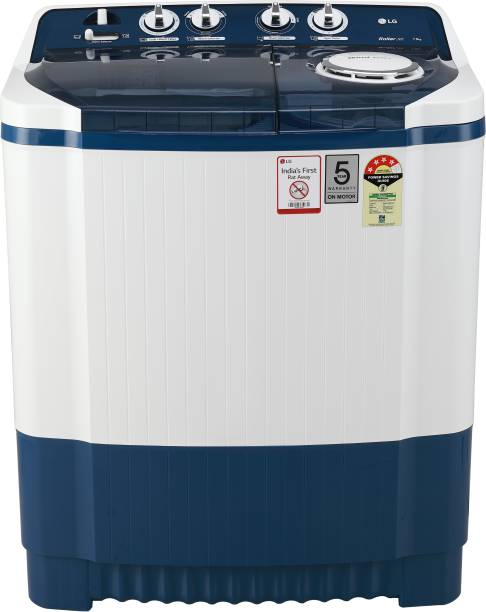 LG 7.5 kg 5 Star Rating Semi Automatic Top Load Blue, White