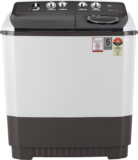LG 10 kg 5 Star Rating Semi Automatic Top Load Grey, White