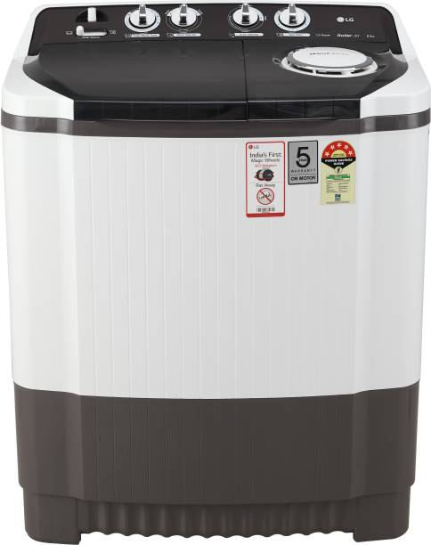 LG 8 kg 5 Star Rating Semi Automatic Top Load Grey, White