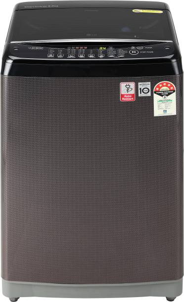 LG 7 kg 5 Star Rating Jet Spray Fully Automatic Top Load Black