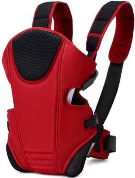 MOM'S PRIDE Adjustable Baby Carrier Bag (Red, Front carry facing out) Baby Carrier