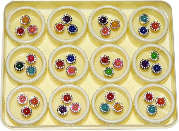 BEAUTY GOLD Superb designer bindi for beautiful lady & girl forehead, nails Multicolor Bindis