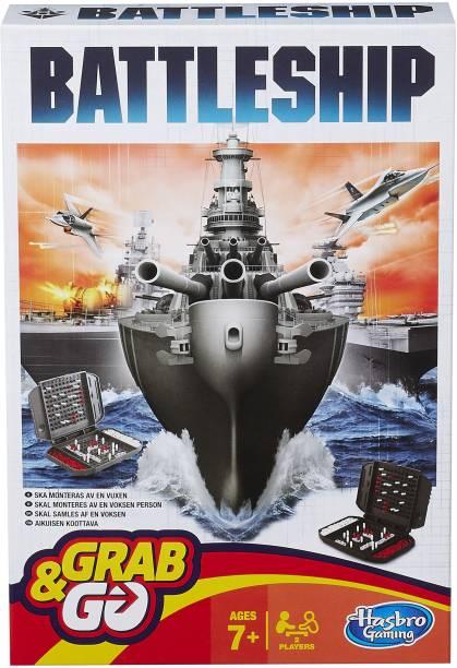 HASBRO GAMING BATTLESHIP GRAB AND GO Strategy & War Games Board Game