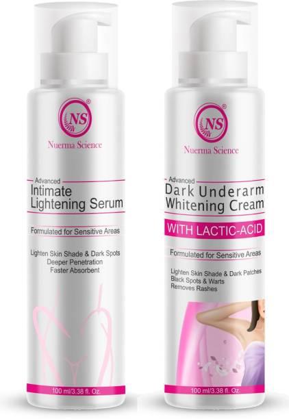 Nuerma Science Advanced Intimated Lightening Serum and Underarm whitening Cream
