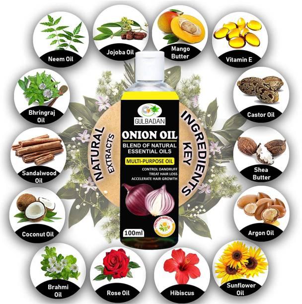 GULBADAN Pure & Natural ONION Herbal  Hair Oil