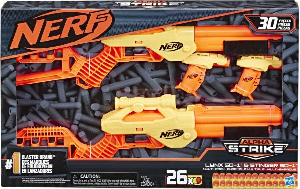 Nerf ALPHA STRIKE LYNX AND STGER MULTI PK Guns & Darts