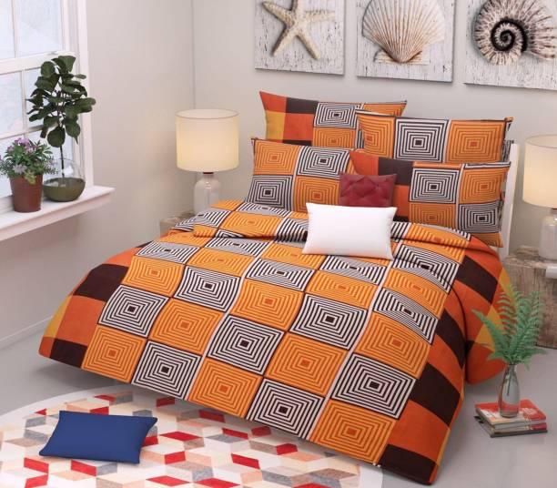 SHIVAAY HOMES 144 TC Polycotton Double Printed Bedsheet