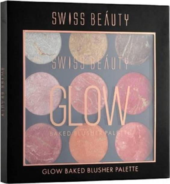 SWISS BEAUTY Glow Baked Blusher Palette #2