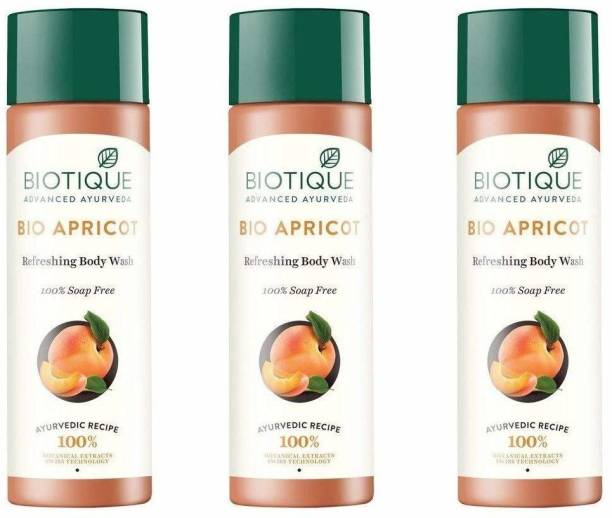 BIOTIQUE Apricot Refreshing Body Wash-(Pack of 3)