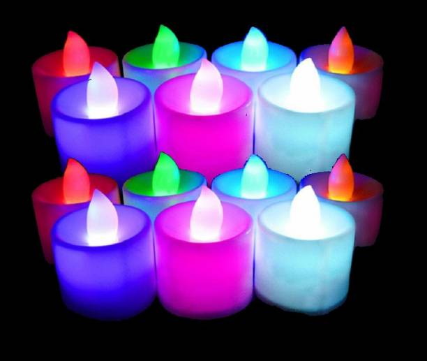 TrendShop LED flameless Candle (Pack of 12) Candle