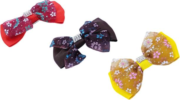 One Personal Care Heart & Bow Inspired Diamond Studded Casual/Occasion Wear Hair Accessory Set