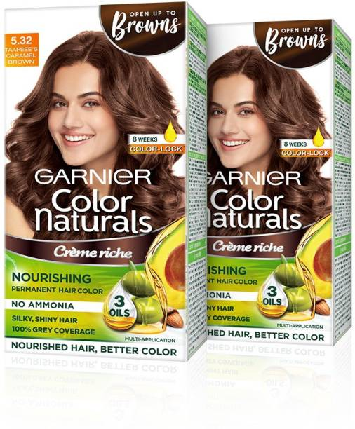 GARNIER Naturals Creme , 5.32 Caramel Brown