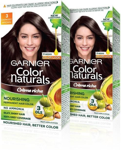 GARNIER Naturals Creme , 3 Darkest Brown