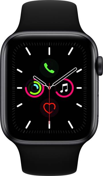 APPLE Watch Series 5 GPS 44 mm Space Grey Aluminium Case with Black Sport Band