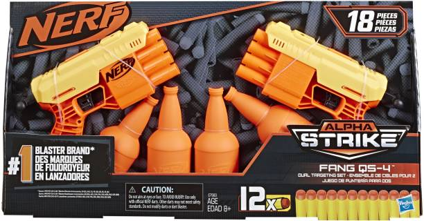 Nerf ALPHA STRIKE FANG QS 4 DUEL TGT SET Guns & Darts