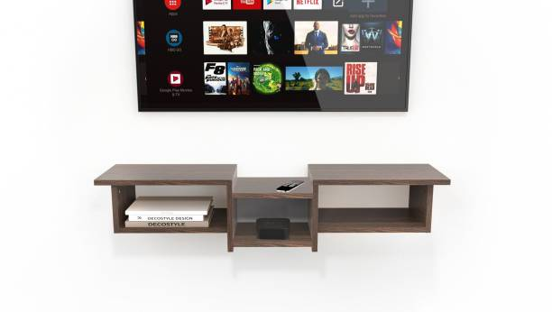 Decostyle wooden TV unit cabinet for living room Engineered Wood TV Entertainment Unit