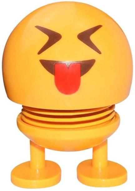 Techobucks Cute Smiley Spring Doll Emoji Bobble Head Dolls Funny