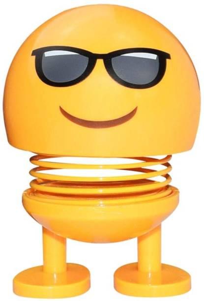 Techobucks Smiley Spring Doll, Cute Emoji Bobble Head Dolls