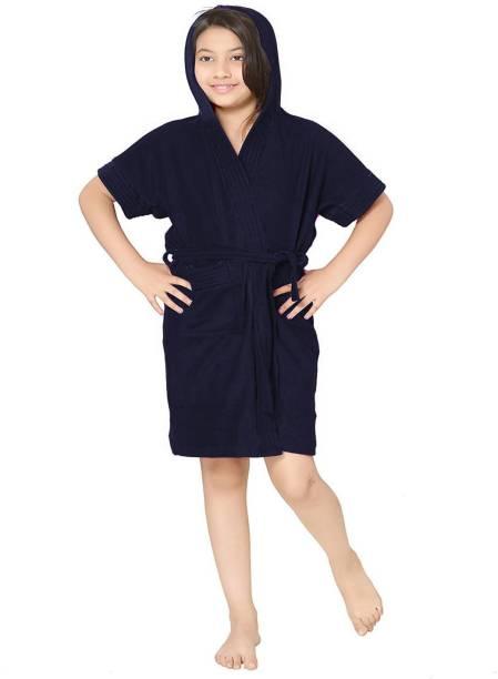 ELEVANTO Navy Blue XL, M, S, XXL, L Bath Robe