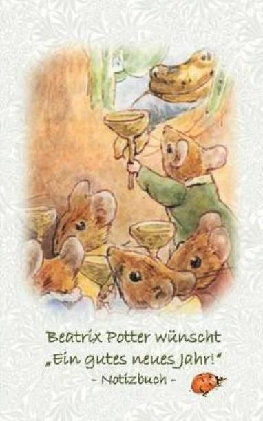 """Beatrix Potter wunscht """"Ein gutes neues Jahr!"""" Notizbuch ( Peter Hase )"""