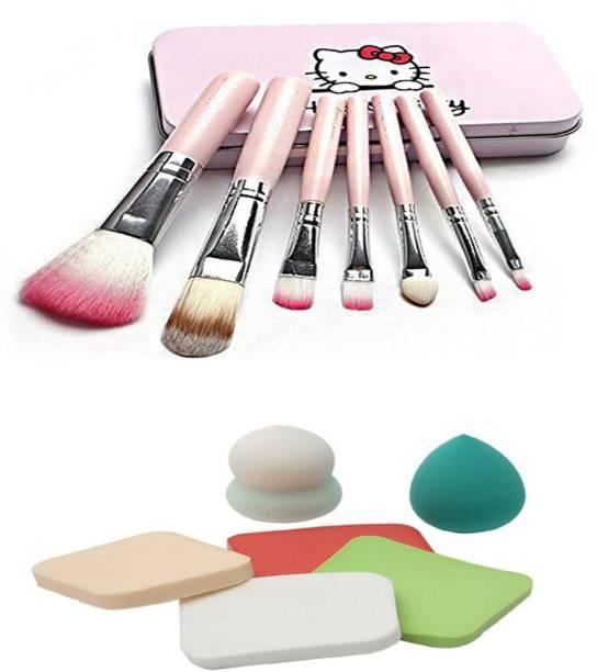 Hello Kitty Kitty brush with puff Sponge blender pack of 13