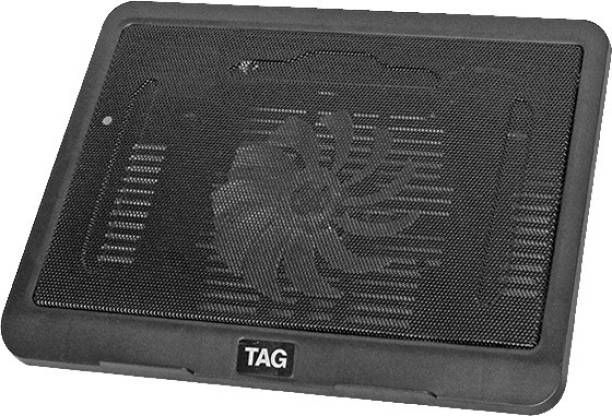 TAG GAMERZ 900 with 130mm Fan, Supports Upto 15.6 Inch Laptop 1 Fan Cooling Pad