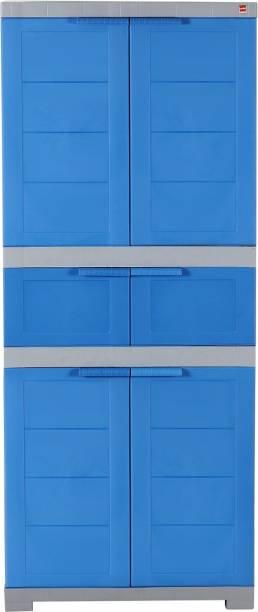 cello Cello Novelty Triplex - Blue & Grey Plastic Cupboard