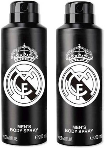 Real Madrid Original Black Combo Pack Of 2 Deodorant Spray - For Men Deodorant Spray  -  For Men