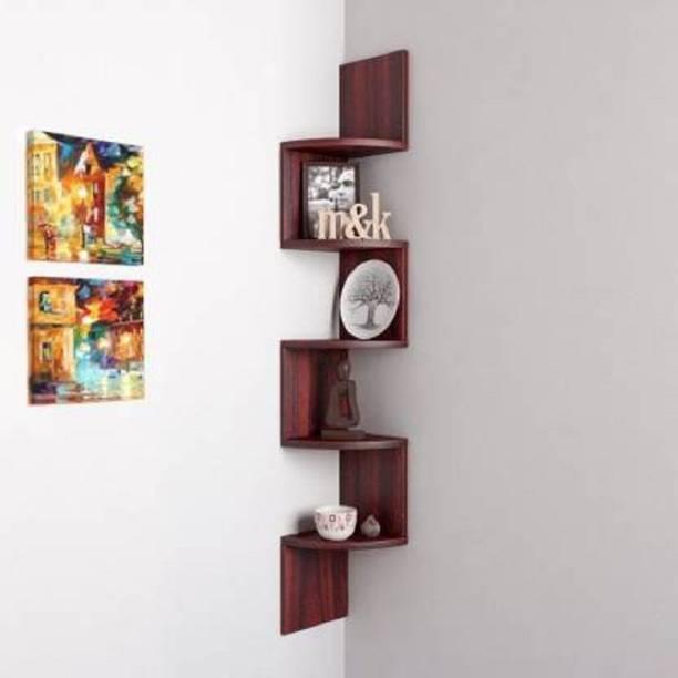 Aaliya mart 5 SHELF UTILITY ZIG ZAG Engineered Wood Display Unit