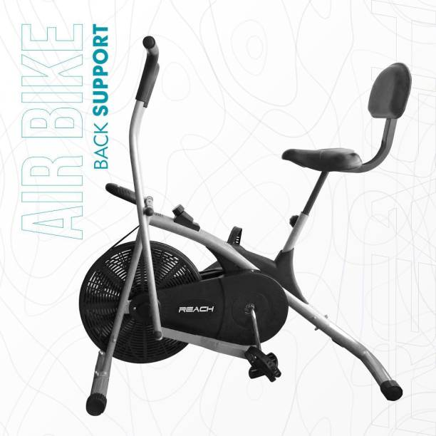 Reach AB-100BS Air Exercise Bike Uptight Cycle With Back Support Seat & Moving handle Dual-Action Stationary Exercise Bike