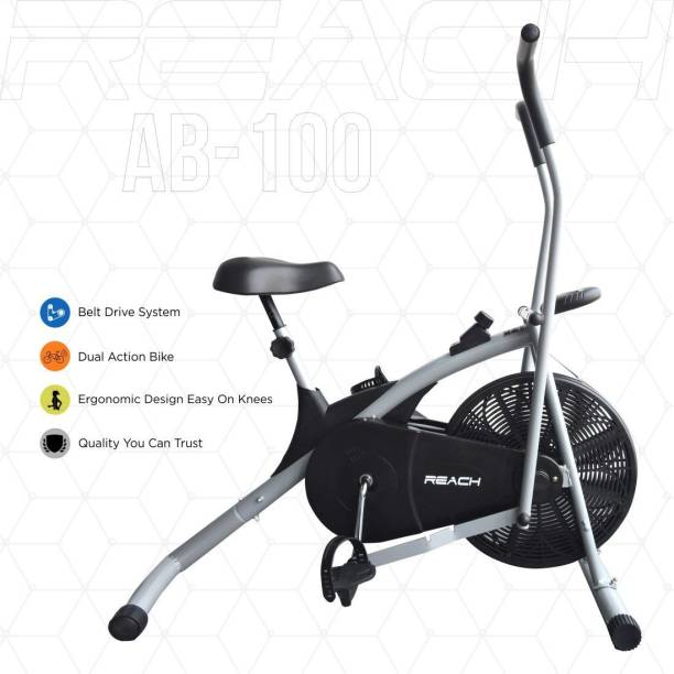 Reach AB-100 Air Bike Exercise Fitness Cycle With Moving Handles Upright Stationary Exercise Bike