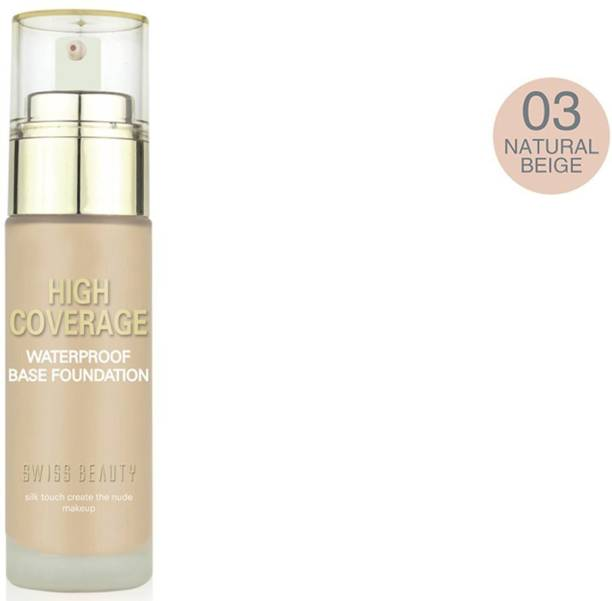 SWISS BEAUTY Foundation (High Coverage) Natural Beige Foundation