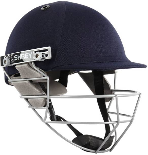 Shrey Star Steel Cricket Helmet, Navy (Large) - 60-63 Cms Cricket Helmet