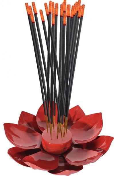 DreamKraft Metal Lotus Shape Safety Incense Holder Agarbatti Stand with Ash catcher- 19 X 19 X 5.5 CM Iron Incense Holder