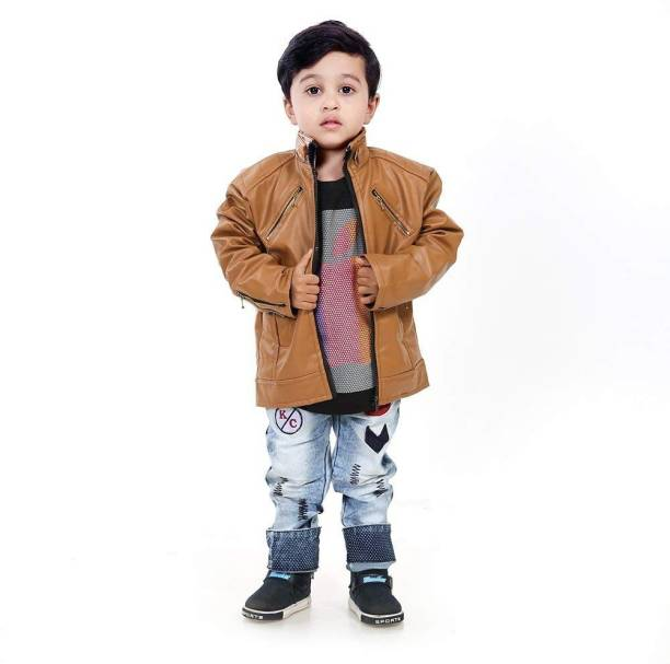 ZA FASHION Full Sleeve Solid Boys Jacket
