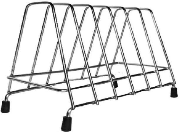 Easy High Grade Stainless Steel Square Plate Rack/Dish Rack/Thali Stand/Dish Stand/Utensil Rack/Chrome (Silver) Dish Drainer Kitchen Rack