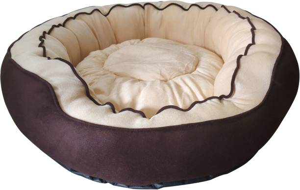 Hiputee Soft Round Grey Dog/Cat/Pet Bed X-Large XL Pet Bed