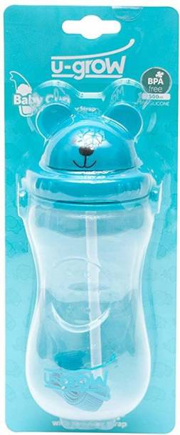 U-grow Bear Cup Bottle with Straw and Carry on Belt -500 ml