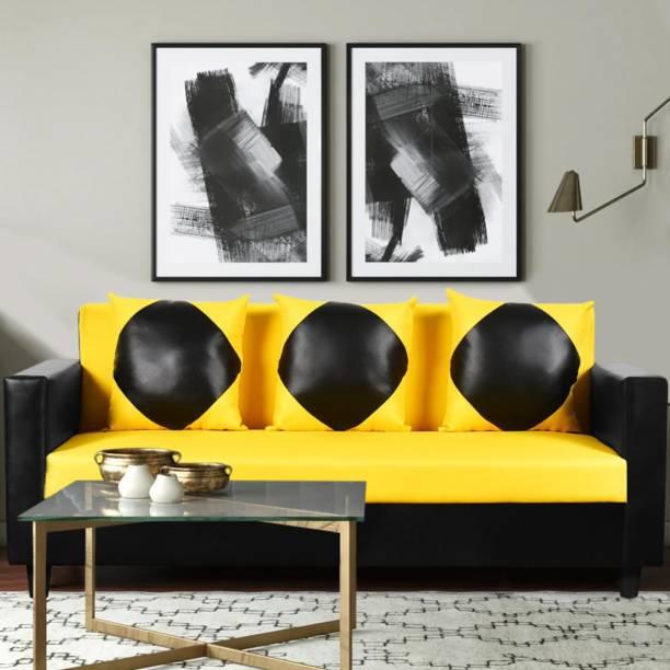 FURNY Arion Half-leather 3 Seater  Sofa
