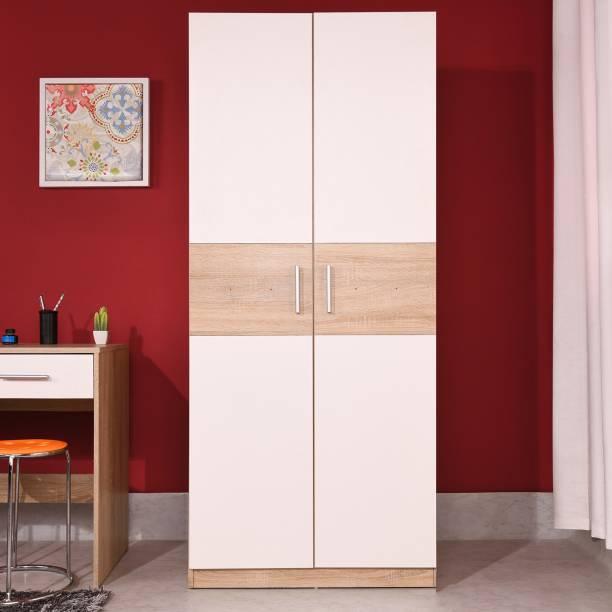 Zuari by Forte Newcastle Engineered Wood 2 Door Wardrobe