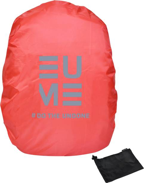EUME Polyester 35 LTR Red Grey Rain and Dust Cover with Pouch for Casual & Waterproof, Dust Proof Laptop Bag Cover