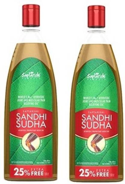 Sandhi Sudha Ayurvedic Pain Releiving Oil, 150ml each, Pack of 2 Liquid