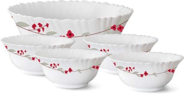 Larah by Borosil 5 Pcs VERONA Pudding Set Opalware Dessert Bowl