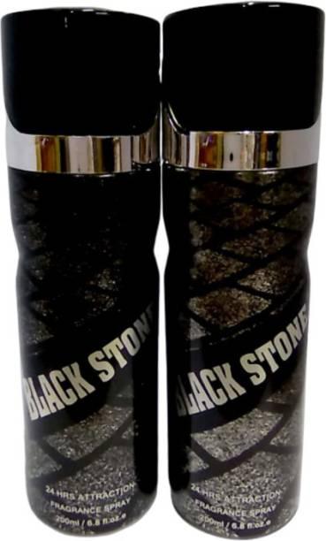 Ramco Black Stone Combo Deo Body Spray 200ml ( Pack Of 2 ) Body Spray  -  For Men