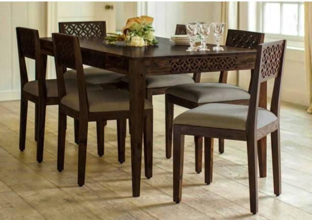 DriftingWood Solid Wood 6 Seater Dining Set