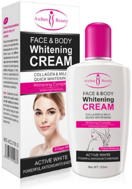 Aichun Beauty Face and Body Fairness Cream - Collagen & Milk Quick Whitening Powerful Antioxidants Energize- Body, Face Whitening & Hydrating (3 Days )